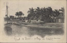 CPA Fortier Phot Fakar Légende Guet N Dar Village Pêcheurs YT 11 X2 5c Vert CAD Gorée Sénégal 11 Juil 02 Pour Dax - Senegal (1887-1944)