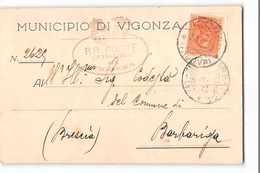 9552 01  MUNICIPIO DI VIGONZA X BARBARIGA - Marcophilia