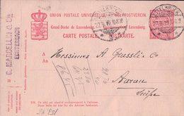 Luxembourg, Entier Postal, G. Marcellin Echternach, Ettelbruck - Aarau Suisse (27.9.19) - Stamped Stationery