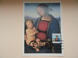 CARTE MAXIMUM CARD MADONNA AND CHILD BY PERUGINO ETAS-UNIS - Madonna