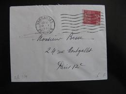 S/L 259 - TB Enveloppe Affranchie Avec  N° 272;  Du Congrès De Versailles Pour Paris  ( 13/05/1931) - Postmark Collection (Covers)