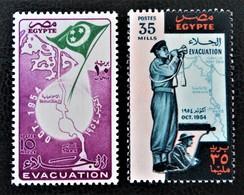 EVACUATION DU CANAL DE SUEZ PAR LES TROUPES BRITANNIQUES 1954 - NEUFS ** - YT 369/70 - MI 479/80 - Egypt