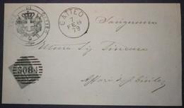 Annullo Numerale GATTEO Forlì Numerali Emilia - 1861-78 Vittorio Emanuele II