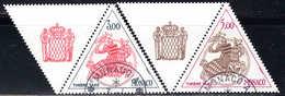 Monaco - 1980 - Timbres Taxe - Sceau Princier - N° 73-74 + Vignette - Oblit - Used - Postage Due