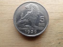 Belgique  5  Francs  Fl-fr  1939  Km 117 - 1934-1945: Leopold III