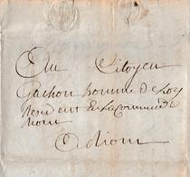 GROLIERE (03 ?) - L.S. MONTANDEAUD Au Citoyen GACHON, Homme De Loy à RIOM - Documents Historiques