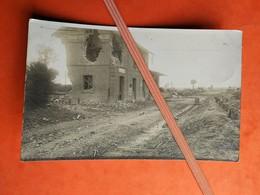 62 Carte Photo - QUEANT La Gare 1914 / Guerre 1914-1918 - France