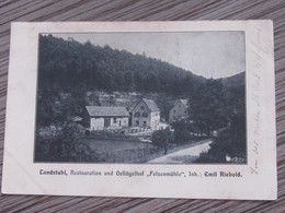 CPA Landstuhl Restauration Felsenmühle - Landstuhl