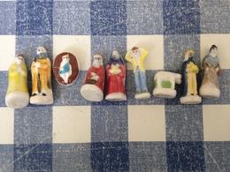 7/14 Feves Creche Nativite 2012 Santibelli Autres Modèles Jesus Mouton Roi Mage Ravi Joseph Marie Villageois - Santons