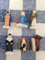 6/14 Feves La Nativite Aldi 2016 Jesus Boeuf Roi Mage Femme Villageois - Santons