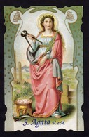 S. AGATA M. -  BR - PR - Mm.70 X 110 - SANTINO MODERNO - Religion &  Esoterik