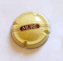 RARE CAPSULE DE MOUSSEUX - PLAQUE MUSELET CRÉMANT - MURÉ - CREME ET MARRON - Sparkling Wine