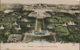 France Dep 78 Versailles Vue Generale Du Parc Et Du Palais - Postcards