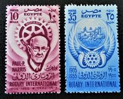 50 ANS DU ROTARY INTERNATIONAL 1955 - NEUFS ** - YT 374/75 - MI 484/85 - Egypt