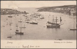 Entrance To The Harbour, Fowey, Cornwall, 1907 - Wrench Postcard - Other