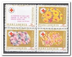 Macedonië 1993, Postfris MNH, Red Cross, Flowers - Macedonië