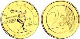 GRECE 2004 - JEUX OLYMPIQUES - 2 EUROS COMMEMORATIVE DORE OR FIN + CAPSULE - Grecia