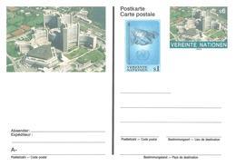 Nations Unies Bureau Vienne United Nation Vereinte Entier Postal, Ganzsachen, Postal Stationery Carte Postale Postkarten - Centre International De Vienne