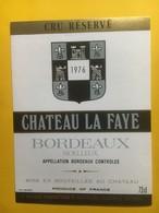 8255 - Château La Faye 1976 Bordeaux Moelleux - Bordeaux