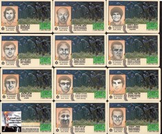 OLYMPIC GAMES 1972 MUNICH 11 ISRAELI SPORTSMEN MURDERED BY PALESTINIAN TERRORISTS 24 PHONE CARDS - Jeux Olympiques