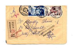 Lettre Recommandee Nice Sur Petain + Retour +n'habite - Postmark Collection (Covers)