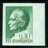 Yugoslavia 1968 Definitive Issue Tito Michel 1282 U - Imperforated Stamp Error - Nuovi