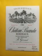 8261 - Château  Branda 1980 - Bordeaux