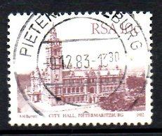 AFRIQUE DU SUD. N°515 Oblitéré De 1982. Hôtel De Ville De Pietermaritburg. - South Africa (1961-...)