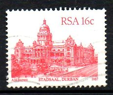 AFRIQUE DU SUD. N°622 Oblitéré De 1987. Hôtel De Ville De Durban. - South Africa (1961-...)