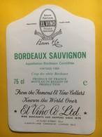 8265 - Bordeaux Sauvignon 1980 Exportation El Vino Londres - Bordeaux