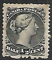 Canada   1873  Sc#21  1/2c  Perf 12   MH*   2016 Scott Value $110 - Unused Stamps