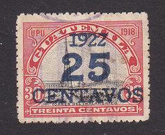 Guatemala, Scott #195b, Used, Radio Station Surcharged, Issued 1922 - Guatemala