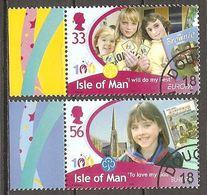 Isle Of Man Insel Man Ile De Man 2010 Europa Cept Michel 1593+1595 Used Obliteré Gestempelt Oo Cancelled - Europa-CEPT