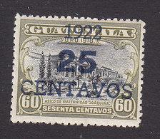 Guatemala, Scott #196a, Mint Hinged, Hospital Surcharged, Issued 1922 - Guatemala