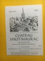 8272 - Château Haut-Maurac  1981  Médoc - Bordeaux