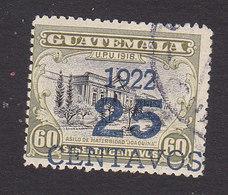 Guatemala, Scott #196b, Used, Hospital Surcharged, Issued 1922 - Guatemala