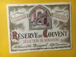 8276 - Pinot Noir Réserve Du Couvent Suisse - Etiquettes