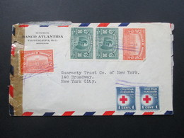 Zensurbeleg Honduras 1943 Banco Atlantida. Mailed Tregucigalpa S.H.. Air Mail - Honduras