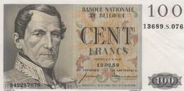 (B0106) BELGIUM, 1959. 100 Francs. P-129c. XF-VF - [ 2] 1831-... : Belgian Kingdom