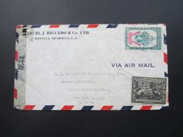 Zensurbeleg Nicaragua Air Mail / Luftpost Nach New York. Censurada. Examined By 6644 - Nicaragua