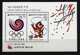 SÜDKOREA - Block Mi-Nr. 500 Olympische Sommerspiele 1988, Seoul Postfrisch - Korea (Süd-)
