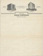 PAPIER A ENTETE HOTEL DIXIE SHERMAN / PANAMA CITY - Factures & Documents Commerciaux