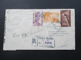 Zensurbeleg Domikanische Republik. Air Mail / Luftpost Nach New York. Examined By 3839. 9 Stempel!! - Dominicaanse Republiek