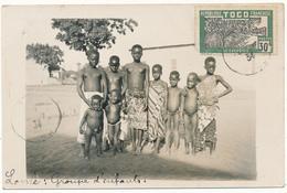 TOGO, LOME - Carte Photo Légendée - Groupe D'Enfants - Togo