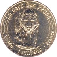 77 LUMIGNY PARC DES FÉLINS TIGRE MÉDAILLE MONNAIE DE PARIS 2017 JETON TOKEN MEDALS COINS - Monnaie De Paris