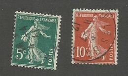 FRANCE - N°YT 137/38 OBLITERES - COTE YT : 0.30€ - 1907 - 1906-38 Sower - Cameo