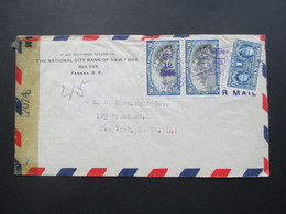 Zensurbeleg Panama 1944 Nach New York Gesendet!. Examined By 7074. Air Mail - Dominikanische Rep.