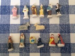 14/16 Feves Creche 2009 Arguydal Ane Boeuf Marie Ange Vilageois Roi Mage - Santons