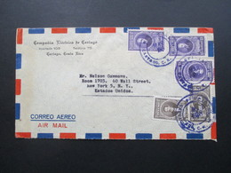 Costa Rica 1926 ?!? Air Mail Nach New York. Campania Electrica De Cartago - Costa Rica