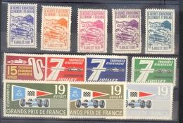 GRAND PRIX DE FRANCE - CIRCUIT DE CHARADE - TROPHEES D'AUVERGNE - AUTOMOBILE - RARE ENSEMBLE DE 12 VIGNETTES ANCIENNES - Commemorative Labels